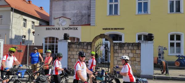 Turyści z sekcji Wandrusie w Zgorzelcu